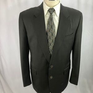 Hickey Freeman Men's Green Wool Blazer 42L